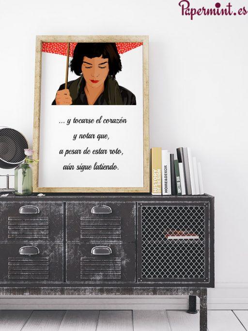 decoracion de dormitorios con poster papermint