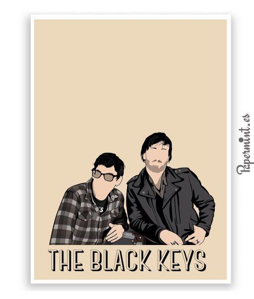 Lámina Black Keys con nombre