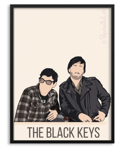 "Póster del grupo ""The Black Keys"""