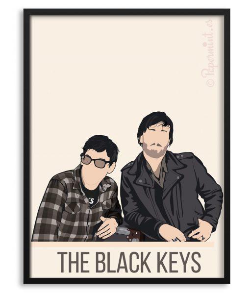 "Póster del grupo ""The Black Keys"""