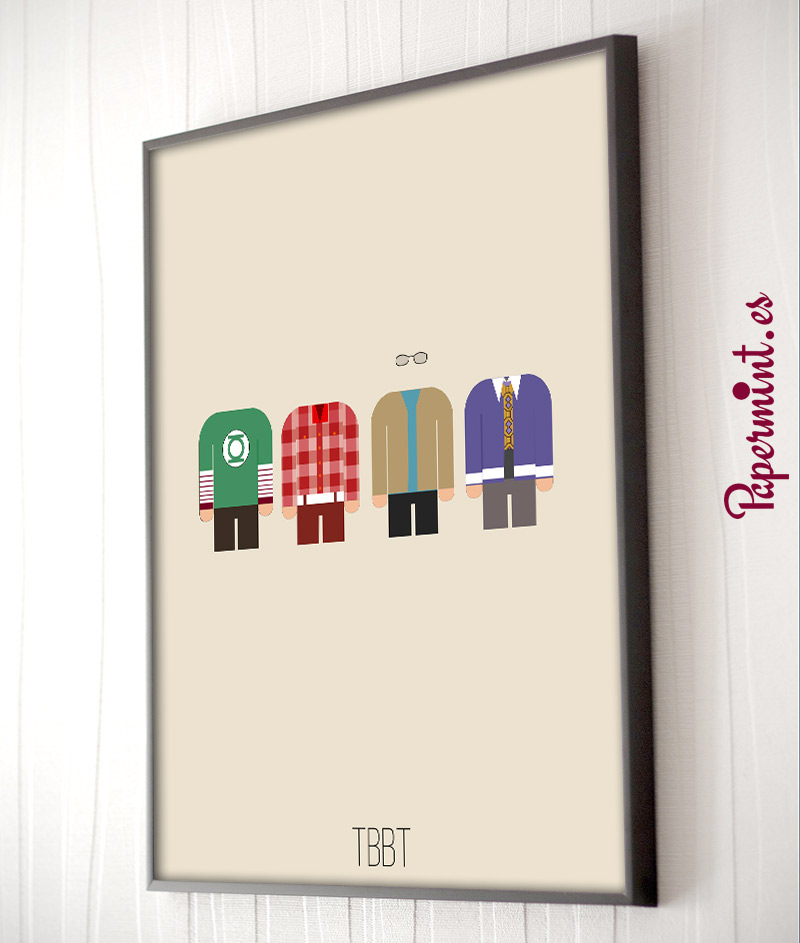 The Big Bang Theory - Póster minimalista - Papermint
