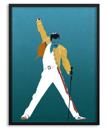 Póster de Freddie Mercury por Papermint