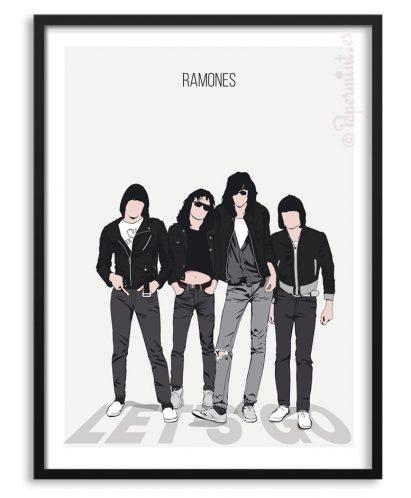 Póster del grupo Ramones personalizado
