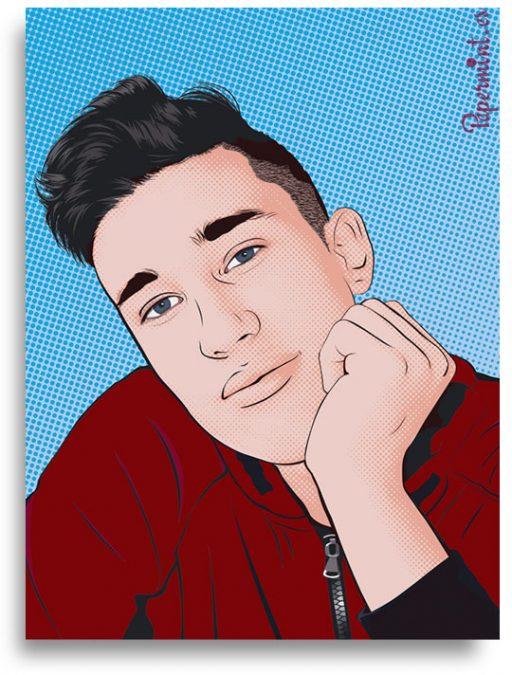 Retrato tipo Lichtenstein