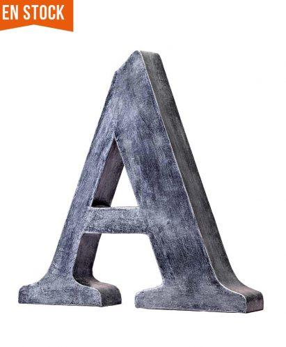 Letra A acabado metalizado