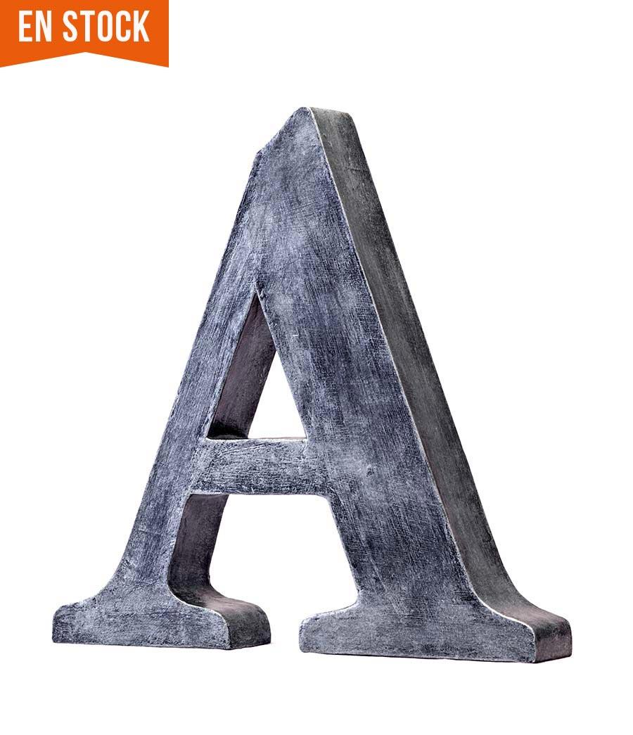 Letra a aspecto metalizado oferta y en stock papermint for Letras decoracion metal