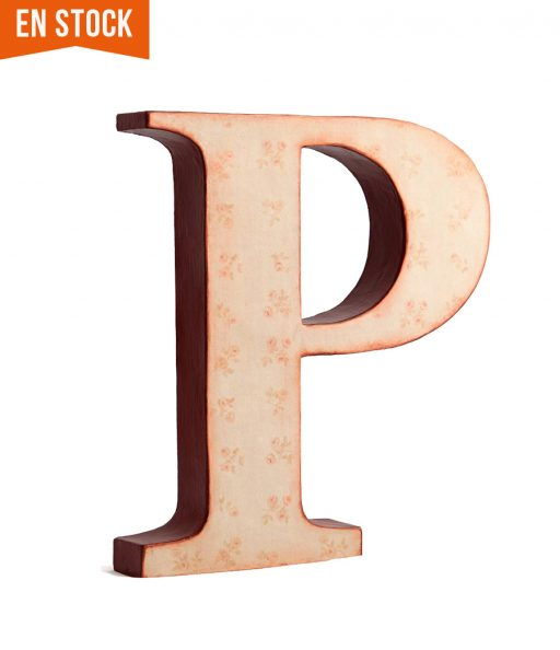 Letra P con florecitas en stock