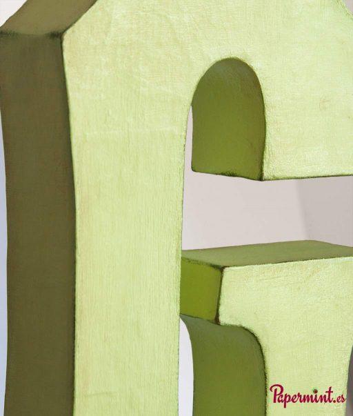 Letra G verde en stock