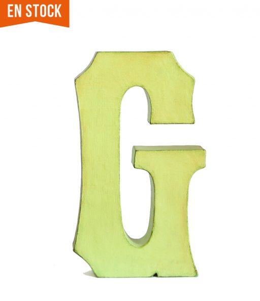 Letra G lista para enviar