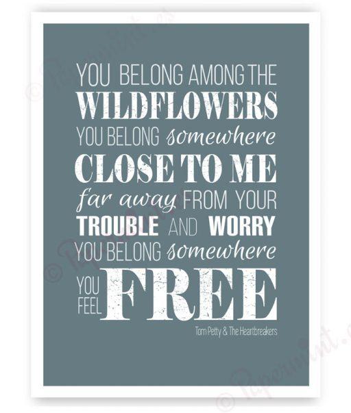 póster con letra de Wildflowers