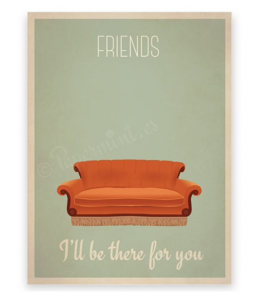 poster sofa serie friends