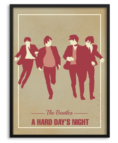 "Póster ""A hard day's night"" de los Beatles"