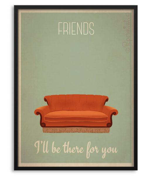 """Póster de la serie """"Friends"""" con sofá"""