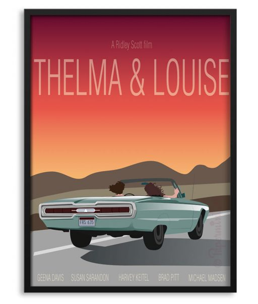 Póster alternativo de Thelma y Louise