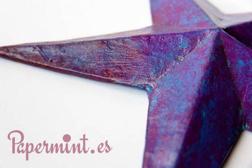 Estrella púrpura decorativa
