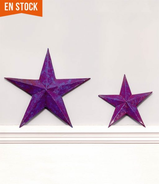 Estrellas color púrpura para decorar