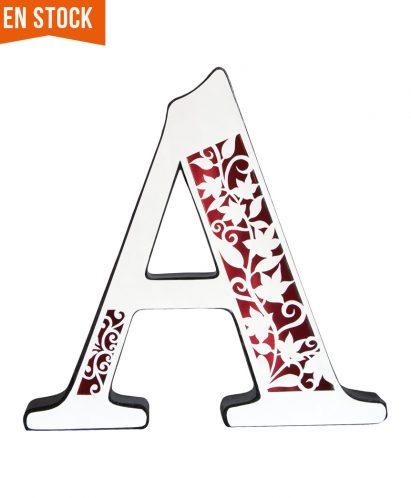 Letra A blanca especial decoración