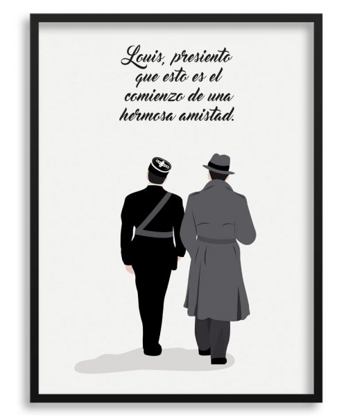 Poster escena final de Casablanca