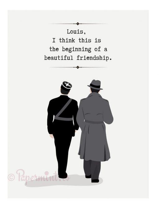 póster con frase final de Casablanca en inglés