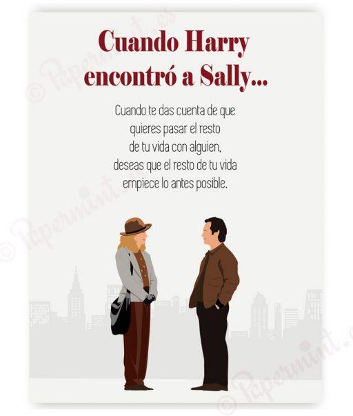"Póster con frase ""Cuando Harry encontró a Sally"""