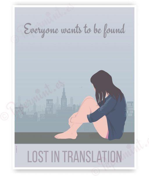 "Póster ""Lost in Translation"""