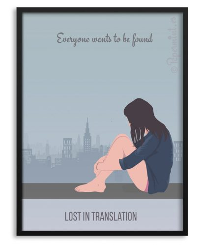 "Póster con frase ""lost in translation"""