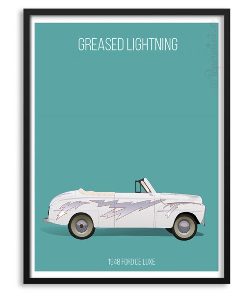 Póster del coche Greased Lighning de Grease