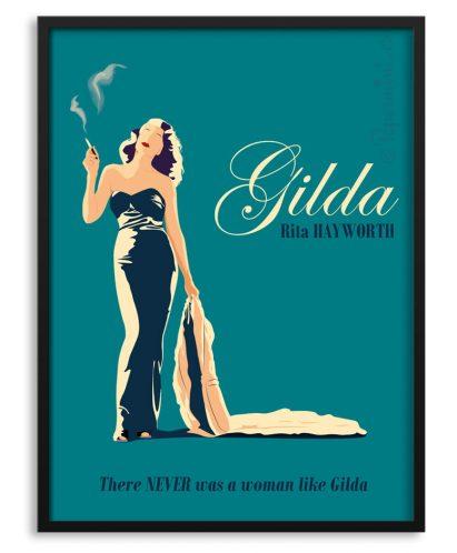 Póster de Gilda con Rita Hayworth por Papermint