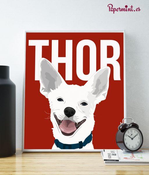 Retrato cómic de perros