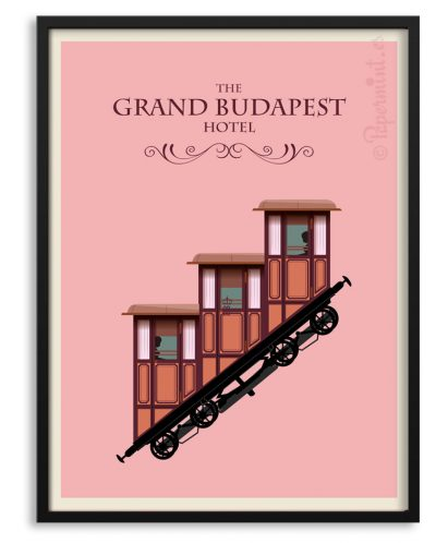 "Póster ""The grand Budapest Hotel"" por Papermint"