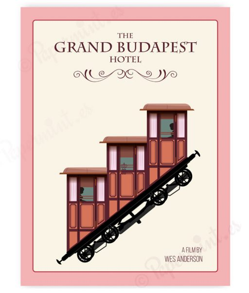 """lámina de """"El gran hotel budapest"""""""
