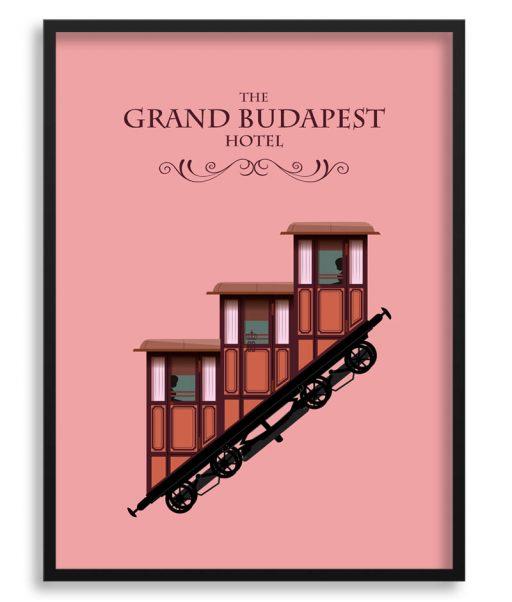 """Póster de """"El gran hotel Budapest"""""""