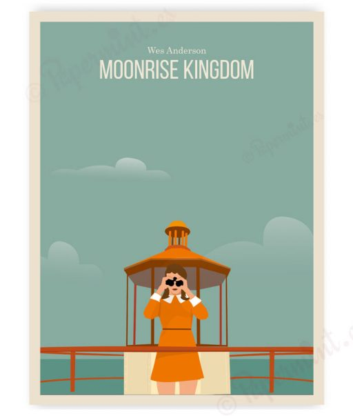 "Lámina ilustración de ""Moonrise Kingdom"""