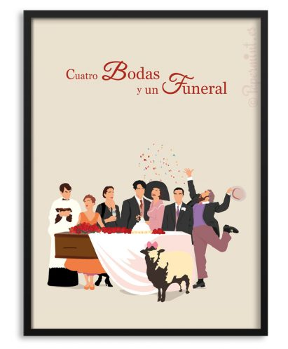 Póster de Cuatro Bodas y un Funeral