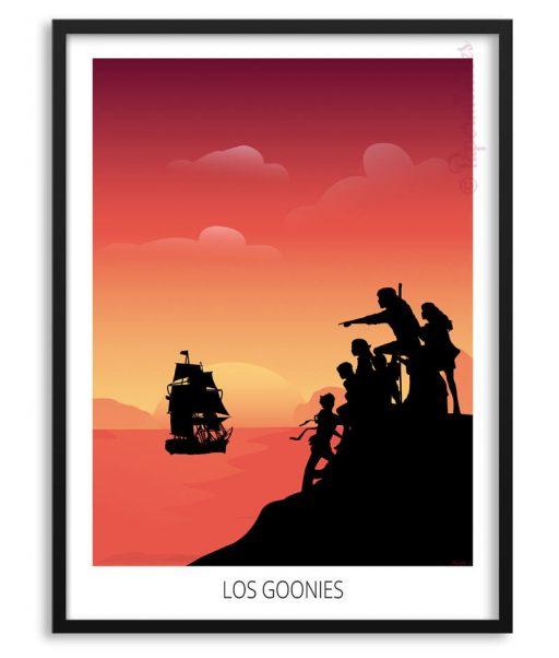 """Póster minimalista de """"Los Goonies"""""""