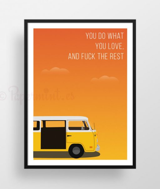 "Póster con frase de ""Little Miss Sunshine"""