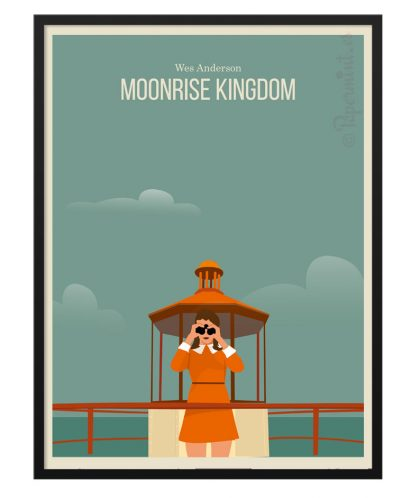 Póster de Moonrise Kingdom de Wes Anderson