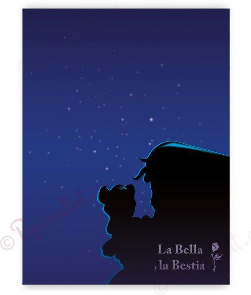 Lámina de la Bella y la Bestia