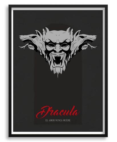 "Póster minimalista de la película de ""Dracula"""