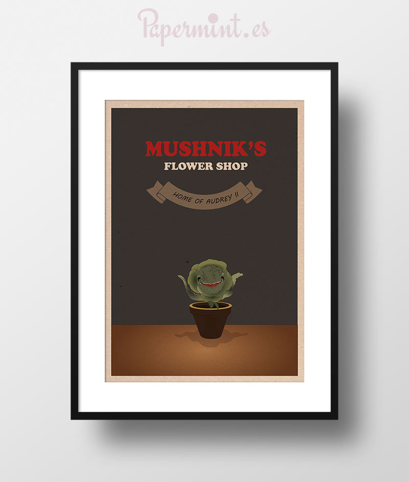 "little shop of horrors paper Seymour nervously enters stage l, holding a paper bag, which reads ""mushnik's skid row florists""  little shop, little shop of horrors bop sh'bop,."
