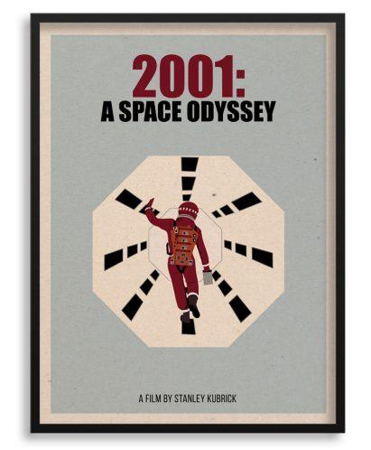 """poster cartel de """"2001 Una odisea del espacio"""""""