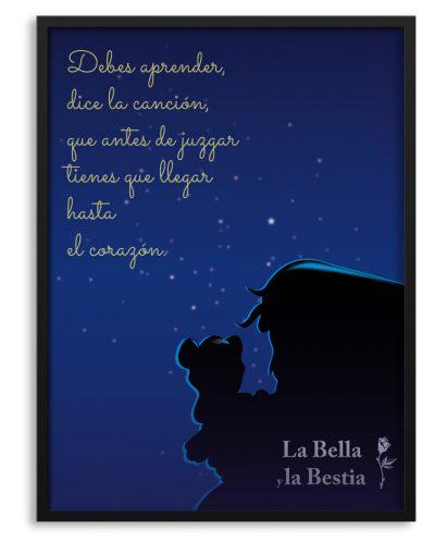 Póster de La Bella y La Bestia con canción