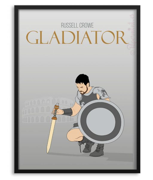 Póster de Gladiator con Russell Crowe