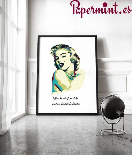 Cuadro con ilustración de Marilyn Monroe