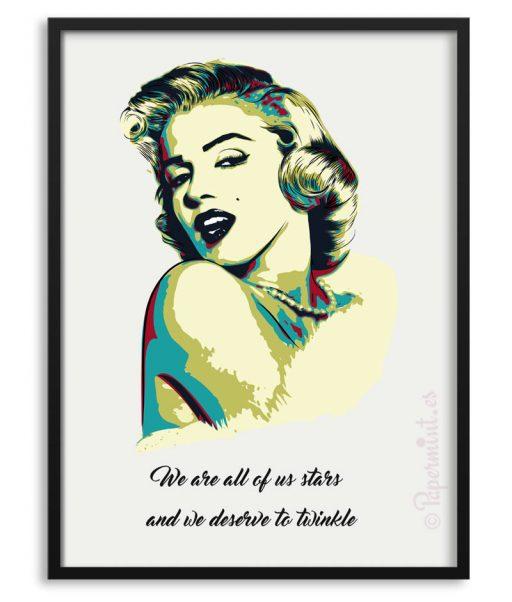 Póster de Marilyn Monroe con frase