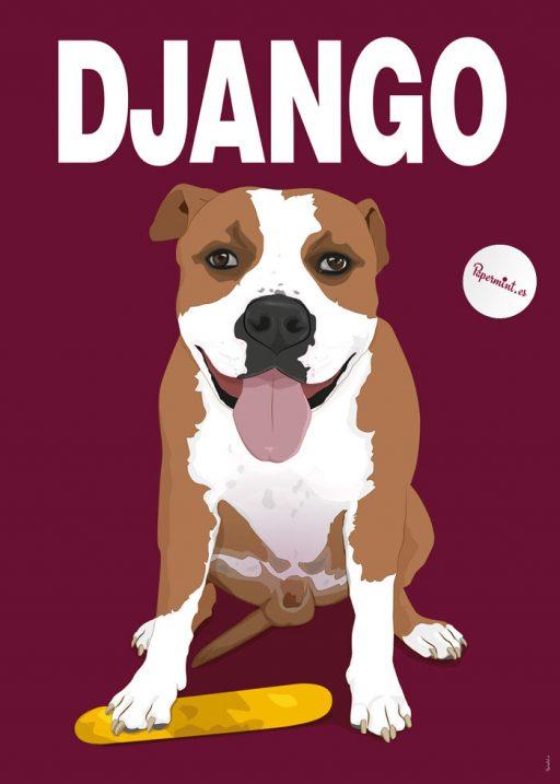 Retrato de perro con nombre