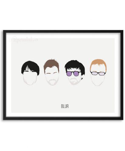 Póster de la banda Blur por Papermint