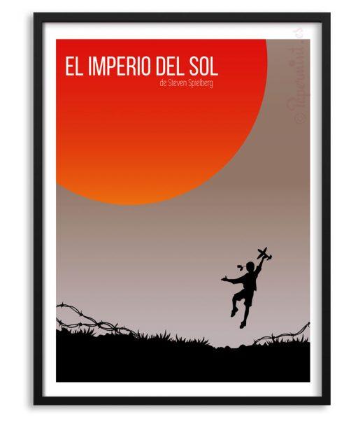 """Póster personalizado """"El Imperio del sol"""" de Spielberg"""
