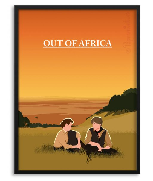Póster de Memorias de Africa por Papermint