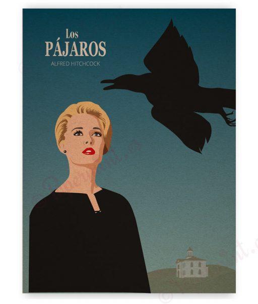 """Lámina ilustración de """"Los Pájaros"""""""